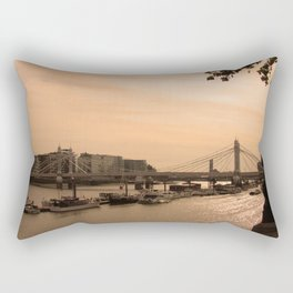 Boats on the Thames Rectangular Pillow