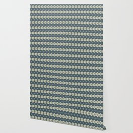 Blue Floral Japanese Pattern Wallpaper