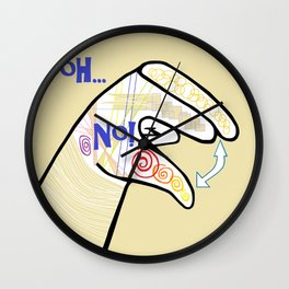 ASL Oh NO! Wall Clock