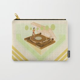 the girl who was roller skating on a record player... Carry-All Pouch