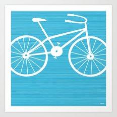 Blue Bike by Friztin Art Print