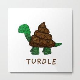 Turdle - Poop - Turtle - 57 Montgomery Art Metal Print