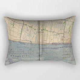 Vintage Utah Beach D-Day Invasion Map (1944) Rectangular Pillow