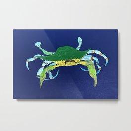 Crab Collage Metal Print