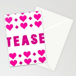 Tease - pink Stationery Cards