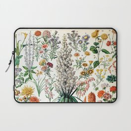 Adolphe Millot - Fleurs B - French vintage poster Laptop Sleeve
