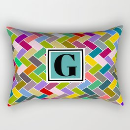 G Monogram Rectangular Pillow
