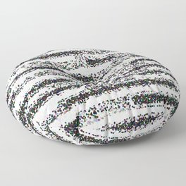 A Pointillist Arrangement of Black and White Floor Pillow