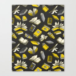 Spellbooks, Yellow Canvas Print
