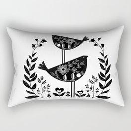 Danish Birds Of Good Luck And Good Life Rectangular Pillow