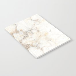 Marble Natural Stone Grey Veining Quartz Notebook