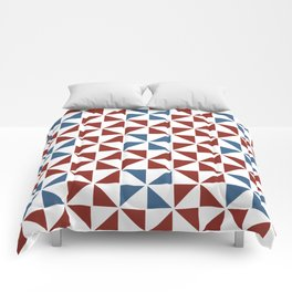 Pinwheel Quilt Pattern in Red and Blue Comforters