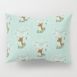 Vintage Inspired Deer with Decorations Pillow Sham