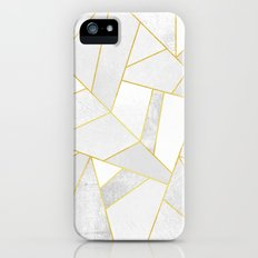 White Stone Slim Case iPhone (5, 5s)