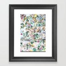 Pretty flowers on wood Framed Art Print