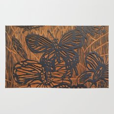 Flowers and Butterflies Rug