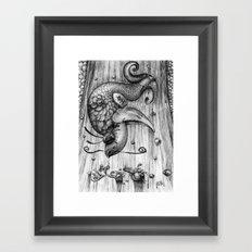 Fish Fall Framed Art Print