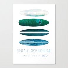 My Surfspots poster-3-Punta de Lobos-Chile Canvas Print
