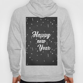 Happy holiday, Christmas sign with snow flake and christmas decoration on the red background Hoody