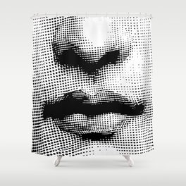 Lina Cavalieri - nose and mouth Shower Curtain