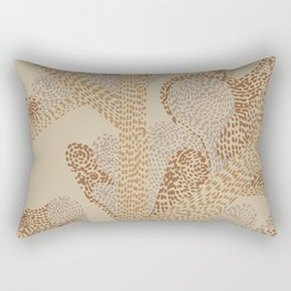 earthy swirls Rectangular Pillow