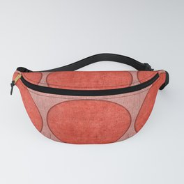 """Pink Circles on Retro Burlap"" Fanny Pack"