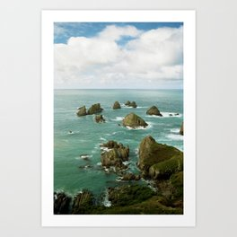 Where two oceans meet Art Print