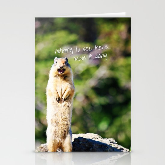 Angry Squirrel Has A Friend Stationery Cards