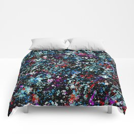 paint drop design - abstract spray paint drops 4 Comforters