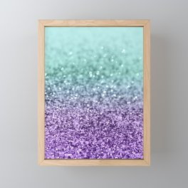 Mermaid Girls Glitter #9 #shiny #decor #art #society6 Framed Mini Art Print