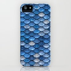 Blue sparkling glitter mermaid scales - Mermaidscales iPhone (5, 5s) Slim Case