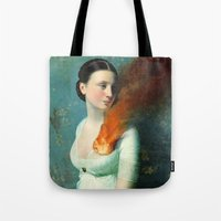 christian Tote Bags featuring Portrait of a Heart  by Christian Schloe
