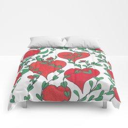Hearts Bloom Comforters