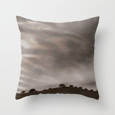 the sky is acting funny Throw Pillow