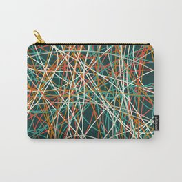Colored Line Chaos #14 Carry-All Pouch