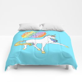 Light blue Unicorn Comforters
