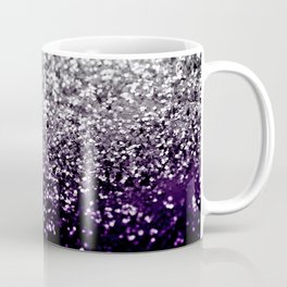 Dark Night Purple Black Silver Glitter #1 #shiny #decor #art #society6 Coffee Mug