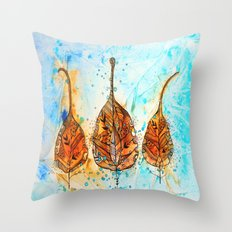 wisdom leaves Throw Pillow