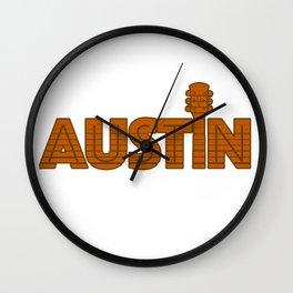 Retro Austin Texas Wall Clock