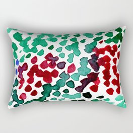 trickle no3...two hearts on grass Rectangular Pillow