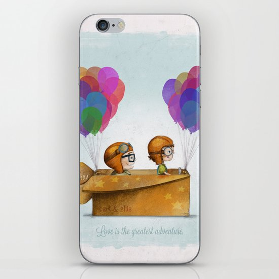 UP Pixar — Love is the greatest adventure  iPhone & iPod Skin