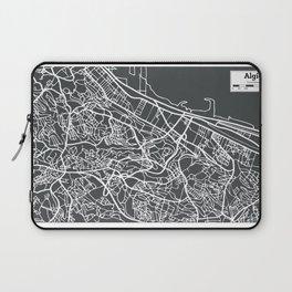 Algiers Algeria Map in Retro Style. Laptop Sleeve