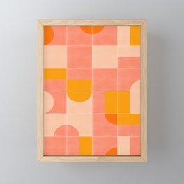 Retro Tiles 03 #society6 #pattern Framed Mini Art Print