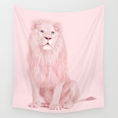 ALBINO LION Wall Tapestry
