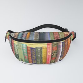 Christmas books antique vintage library Fanny Pack