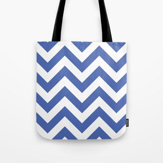 Large chevron pattern / royal blue Tote Bag