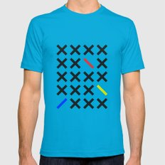 Minimalism 3 Teal Mens Fitted Tee X-LARGE