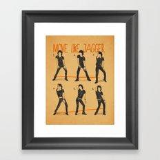 Move Like Jagger (MOVE LIKE COLLECTION) Framed Art Print