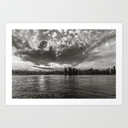 A Dramatic View from New York Art Print