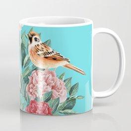Bird in Turquoise Coffee Mug